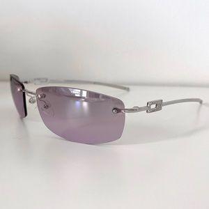 Gucci vintage purple rimless sunglasses